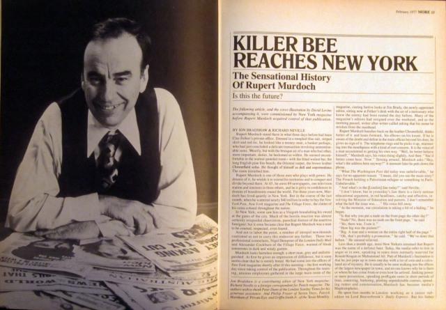 Killer Bee Reaches New York, More magazine, February 1977