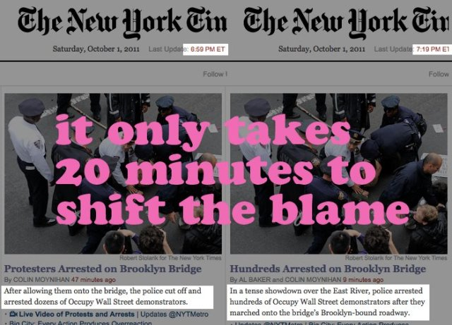 """it only takes 20 minutes to shift the blame"""